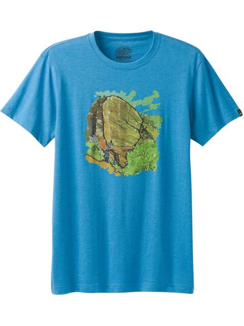 Prana M's Redlands Slim T-Shirt Vortex Blue